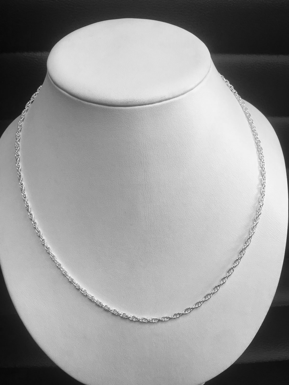 "Sterling Silver 20"" Solid Rope Chain"