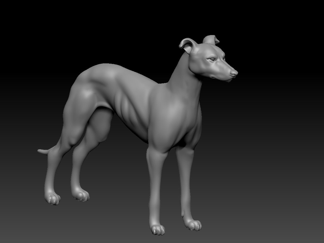 Whippet Charm