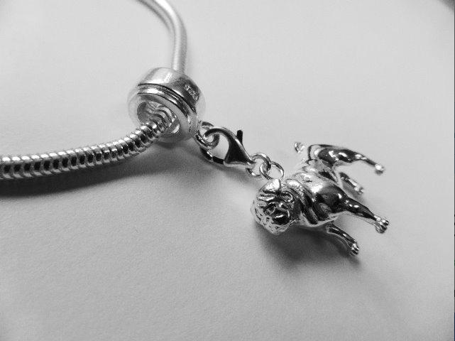 Pug Charm Bracelet