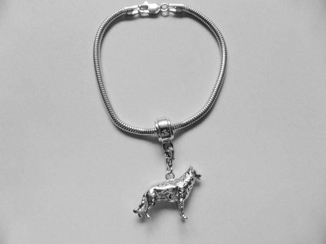 German Shepard Charm bracelet