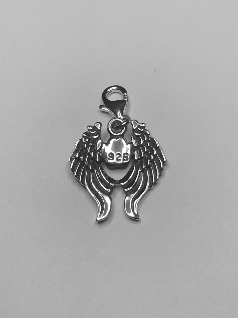 Paws in Heaven charm - oxidized