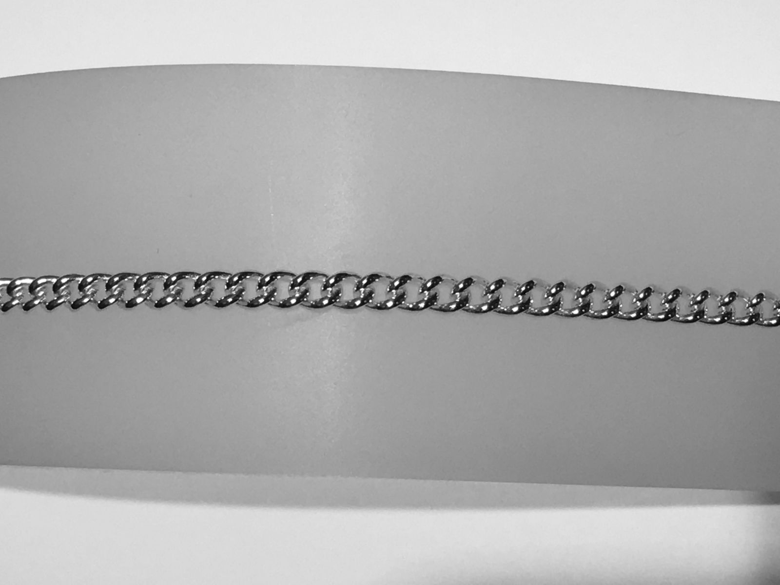 Curb Chain Silver Bracelet
