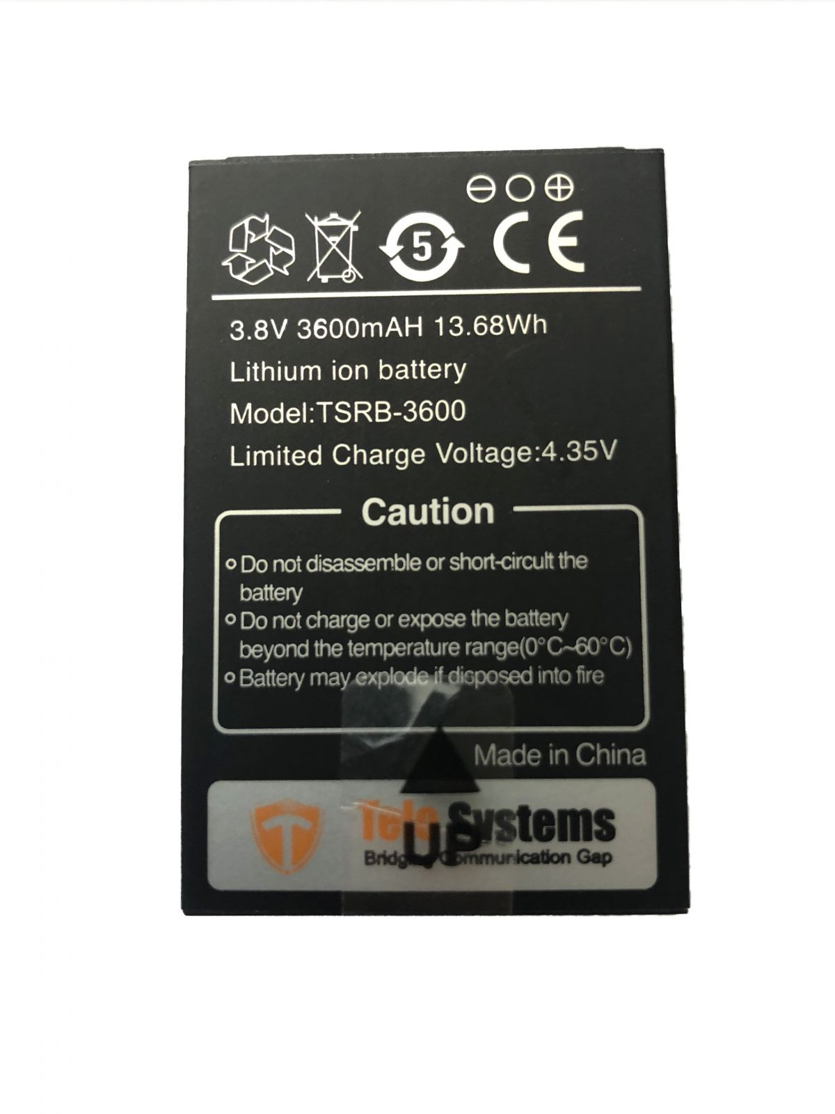 TE580/TE390 Li-ion Replacement Battery