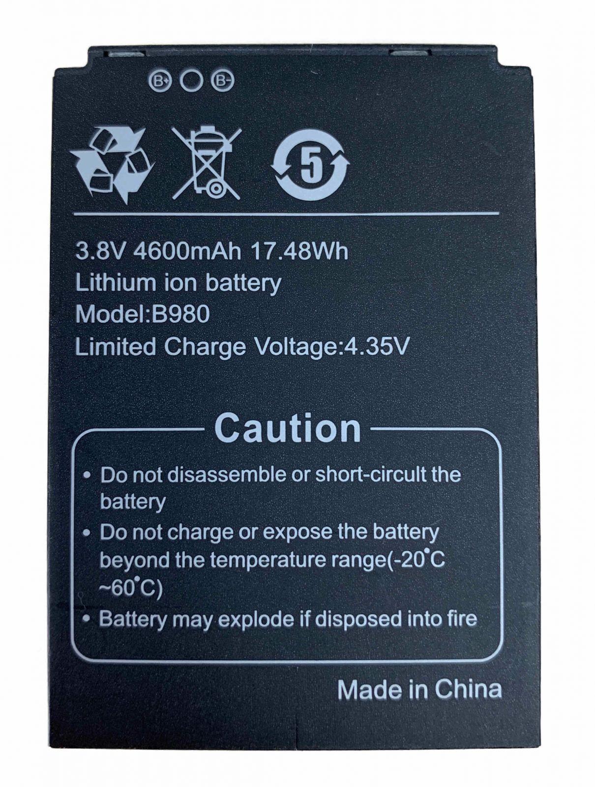 E980 Li-ion Replacement Battery