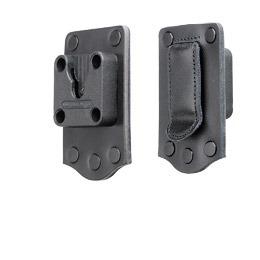 Klick Fast Leather Covered Belt Clip