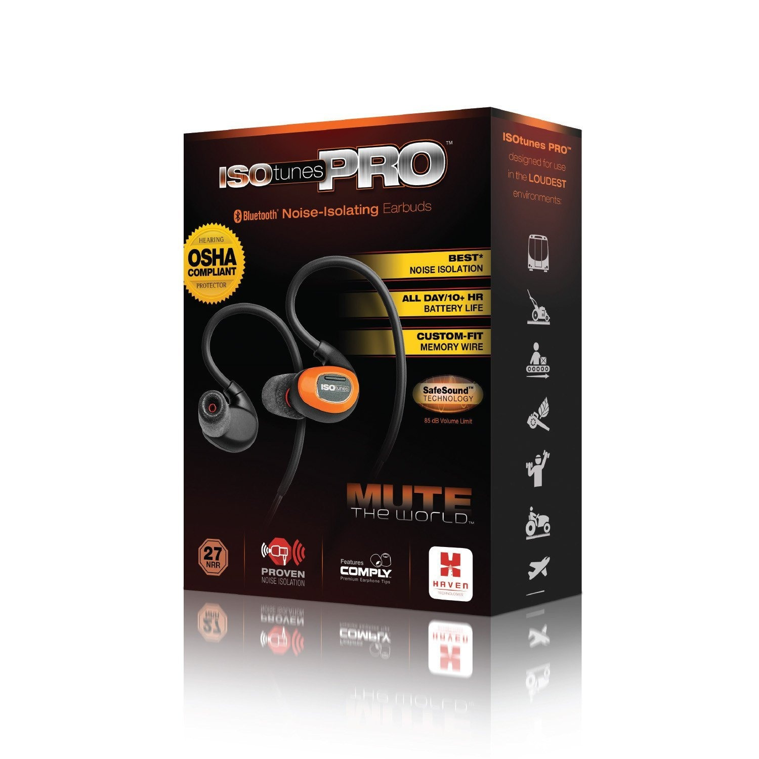 ISOTUNES PRO NOISE ISOLATING BLUETOOTH HEADSET