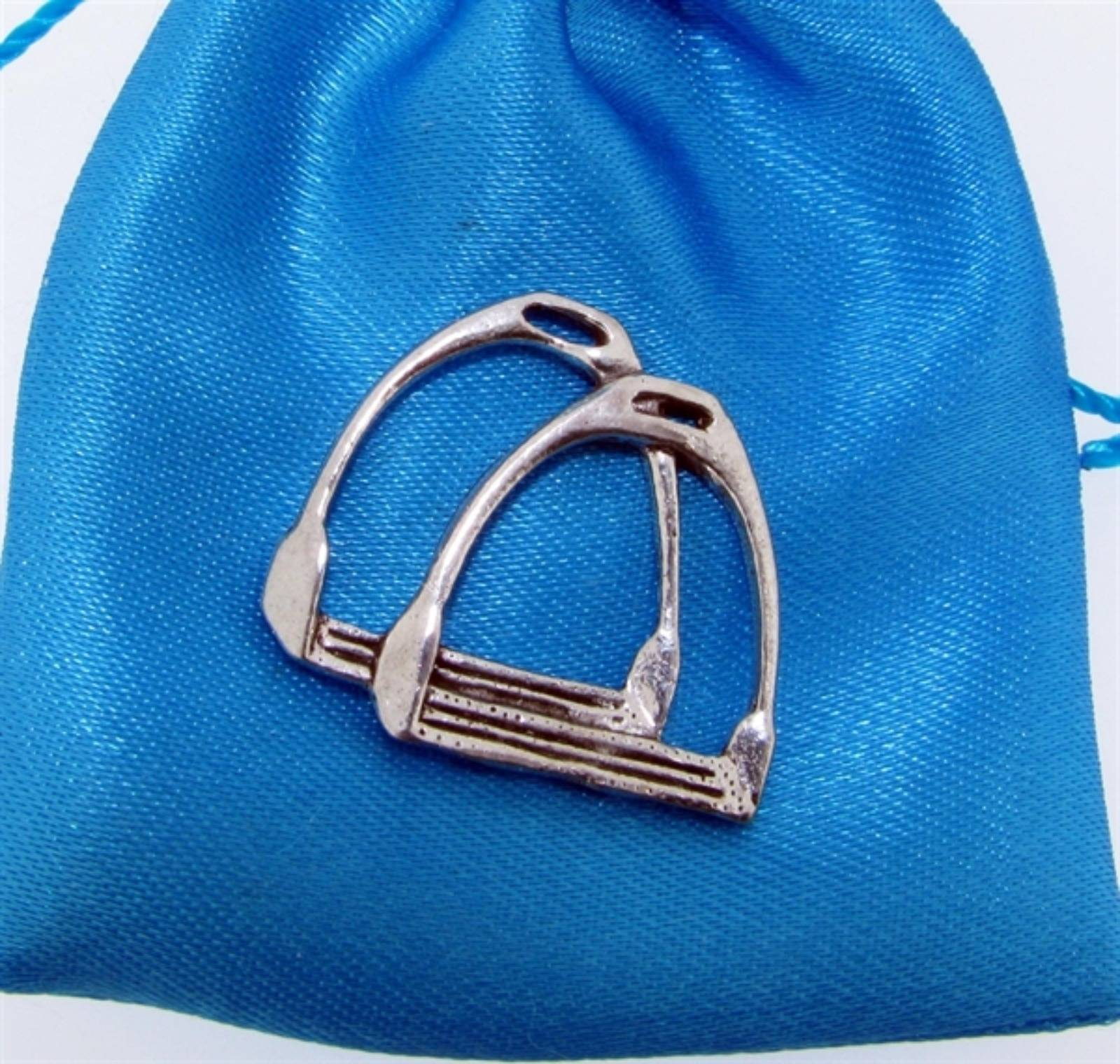Stirrups Pin Badge