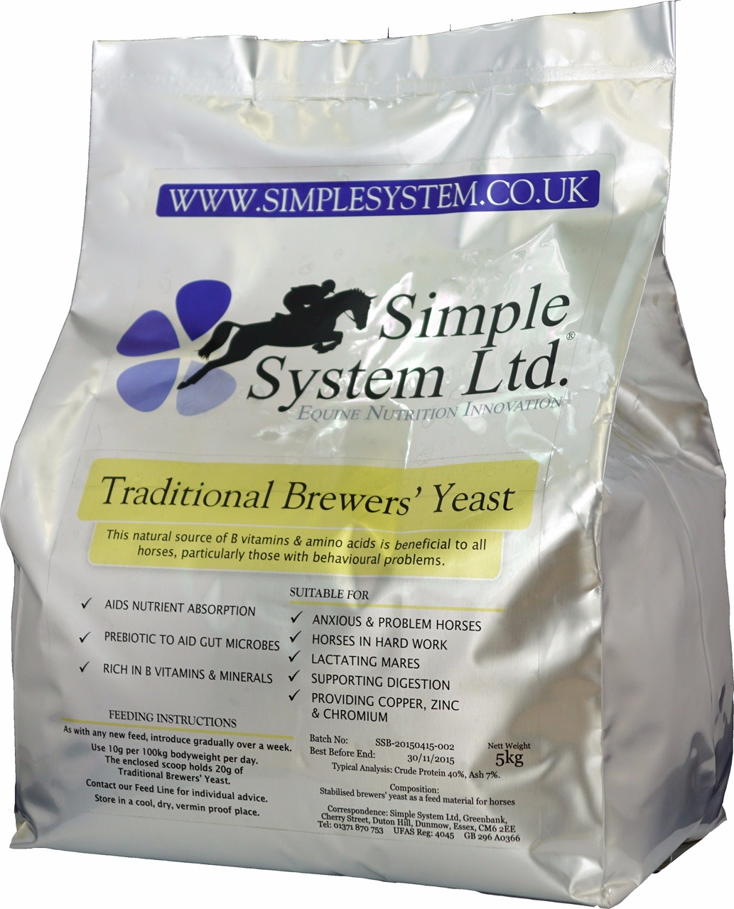 Simple System Traditional Brewers Yeast 1 Kg