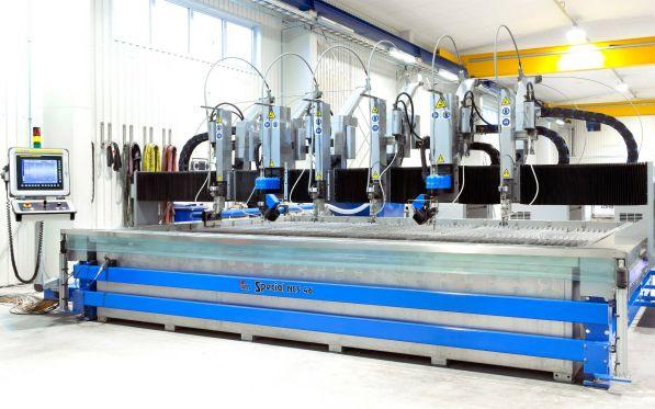 NEW Waterjet Machine With 6 Heads